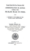 Administration Of Justice During The Muslim Rule In India