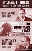 William L  Shirer  Twentieth Century Journey