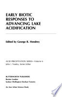 Early Biotic Responses to Advancing Lake Acidification
