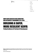 Undp Kenya Disaster Risk Reduction And Integrated Programme 2012 2016 Book PDF