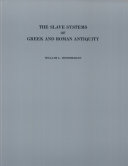 Pdf The Slave Systems of Greek and Roman Antiquity