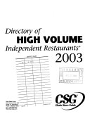 Directory of High-volume Independent Restaurants