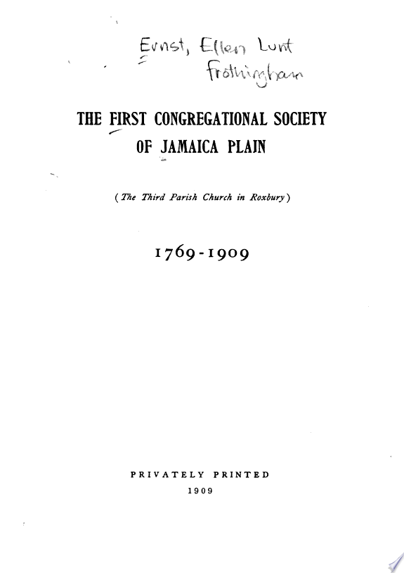 The First Congregational Society of