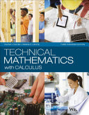 Technical Mathematics with Calculus, Third Canadian Edition