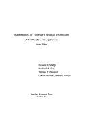Mathematics For Veterinary Medical Technicians