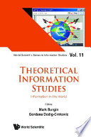 Theoretical Information Studies  Information In The World Book