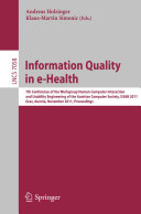 Information Quality in e-Health: 7th Conference of the Workgroup ...