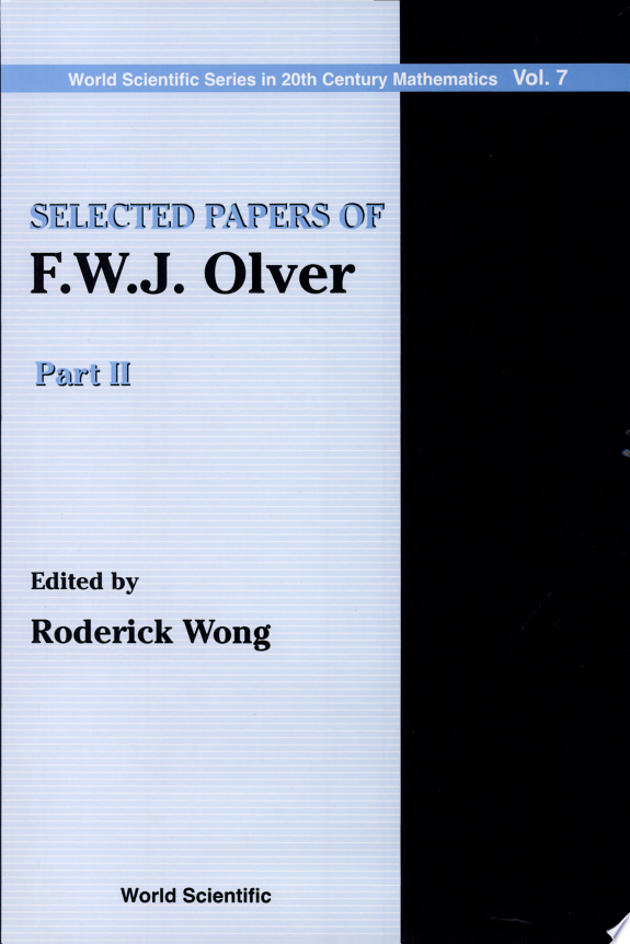 Selected Papers of F.W.J. Olver