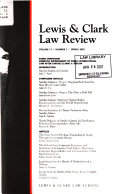 Lewis   Clark Law Review Book