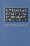 Colonial Families of the United States of America