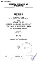 Commercial Space Launch Act Implementation PDF