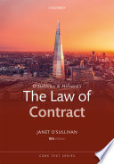 O'Sullivan and Hilliard's the Law of Contract