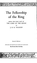 The Lord of the Rings  The fellowship of the ring Book