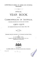 Official Year Book of the Commonwealth of Australia No  4   1911 Book