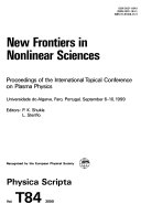 New Frontiers in Nonlinear Sciences