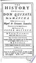 The History of the Renowned Don Quixote de la Mancha 1