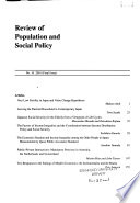 Review of Population and Social Policy