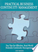 Practical Business Continuity Management Book PDF