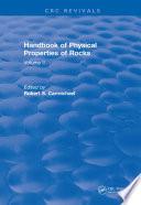 Handbook of Physical Properties of Rocks  1982