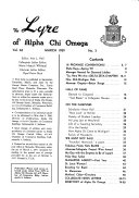 The Lyre of Alpha Chi Omega