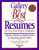 Gallery of Best Resumes for Two year Degree Graduates Book