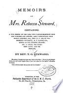 Memoirs of Mrs  Rebecca Steward  Containing