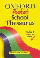 The Oxford Pocket School Thesaurus