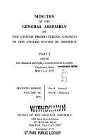Minutes   United Presbyterian Church in the U S A