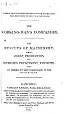 The Results of Machinery  Namely  Cheap Prodution and Increased Employment  Exhibited