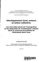 Développement local, acteurs et action collective.