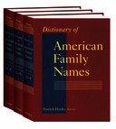 Dictionary of American Family Names Pdf/ePub eBook