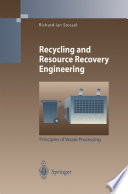 Recycling and Resource Recovery Engineering Book