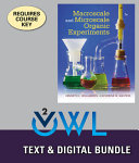 Macroscale and Microscale Organic Experiments   Owlv2 With Labskills  1 term Access