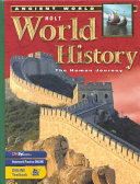 Holt World History Book
