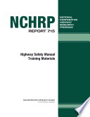 Highway Safety Manual Training Materials