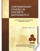 Contemporary Studies in Discrete Mathematics