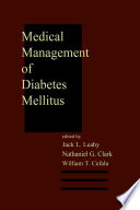 Medical Management Of Diabetes Mellitus