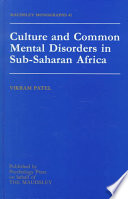 Culture and Common Mental Disorders in Sub Saharan Africa