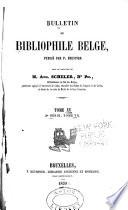 La bulletin du bibliophile Belge
