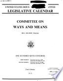 Legislative Calendar Book
