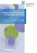 Pdf Pouvoir discrétionnaire et pratique réflexive Telecharger