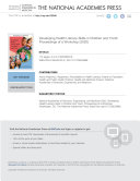 Developing Health Literacy Skills in Children and Youth
