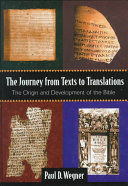 The Journey from Texts to Translations Book