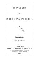 Hymns and Meditations  By A  L  W  i e  Anna Letitia Waring