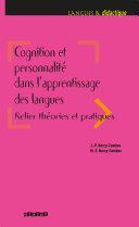 Pdf Cognition et personnalité dans l'apprentissage des langues - Ebook Telecharger