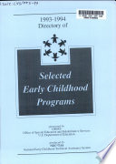 Directory of Selected Early Childhood Programs