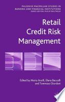 Retail Credit Risk Management Book