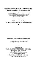 Status of Woman in World Religions   Civilizations