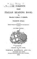 De Porquet s First Italian reading book  or Raccolta di storie e di novelle
