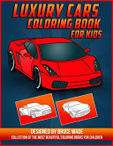 Luxury Cars Coloring Book for Kids